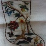 Jacobean Flowers with Stag Stocking