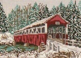 Barronvale Covered Bridge (PA) Winter