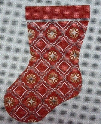 Red, Gold, Silver Mini Sock