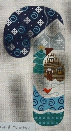 Snowy House and Mountain Candy Cane