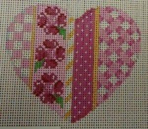 Pink Vertical Patterns Heart