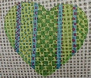 Vertical Lime Heart