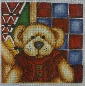 Teddy Bear Canvas and Matching Hand Painted Frame