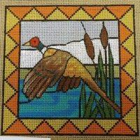 Pheasant in Cattails