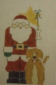Santa with Golden Retriever