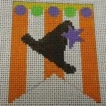 Witch Hat Mini Banner with Stitch Guide