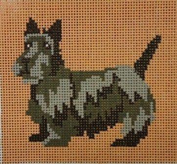 Black Scottie Dog on 13 ct.