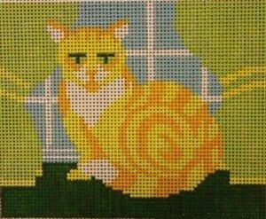 Marmalade Cat on 13 ct.