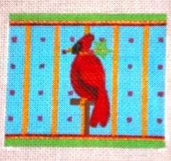 Cardinal in Cage