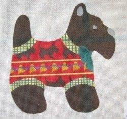 Black Scotty Dog Wearing Sweater