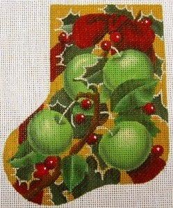 Apples & Holly Mini Stocking