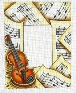 Violin and Musical Paper
