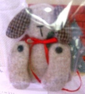 Mini Dog Lovers Stocking Ornament with Stuffed Toy