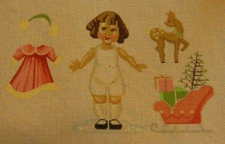 Paper Doll Girl in Winter Season