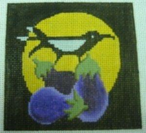 Crow on Eggplant