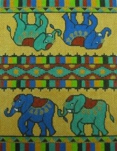 Elephants on Gold Case