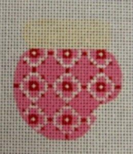 Pink, White, Ecru Munchkin Mitten