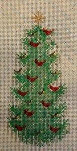 Cardinals and Chickadees Christmas Tree