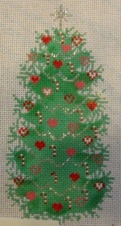 Hearts and Candy Cane Christmas Tree