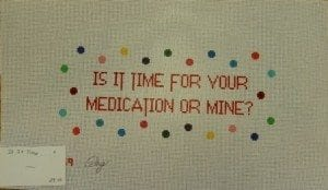 Is it Time for Your Medication or Mine?