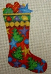 Skinny  Mini Sock with Ornaments