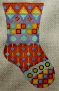 Mini Sock with Squares, Triangles and Circles