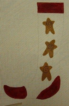 Long Skinny Sock with Stars and Swirls