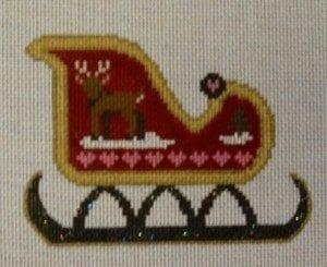 Santa's Sleigh with Painted Reindeer