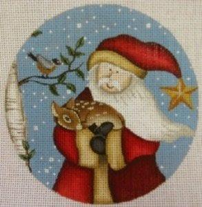 Santa and Deer Ornament