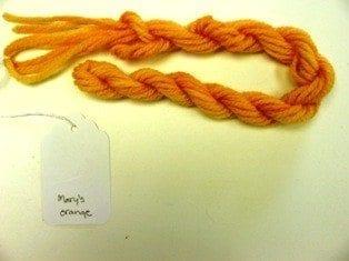 Needlepoint Yarn Mary's Orange