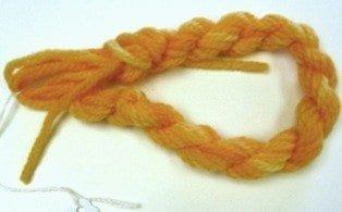 Needlepoint Yarn Zinnia Orange Yellow