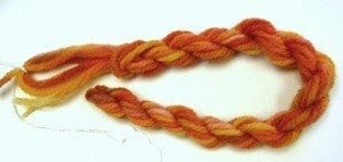 Needlepoint Yarn Liquid Amber Red Orange Yellow