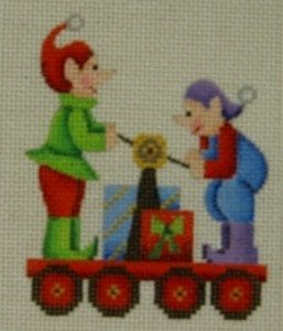 Twelve Car Train Two Elves Hand Pump Car