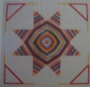 Blazing Quilt Star Chart by Shenandoah Stitchery
