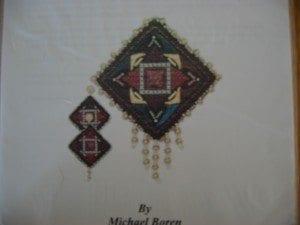 Scheherazade Pin and Earring Set chart by Shenandoah Stitchery