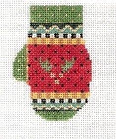 Holly Mitten by Kelly Clark Needlepoint