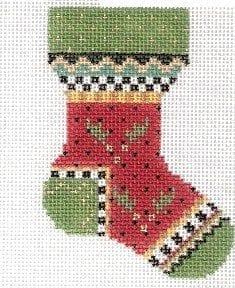 Holly Mini Sock by Kelly Clark Needlepoint