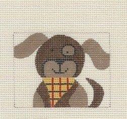 Mini Dog Square or Quilt Block
