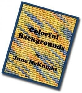 Colorful Backgrounds Book by June McKnight