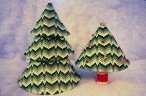 Bargello Trees Needlepoint Chart