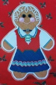 Gingerbread Rogers Needlepoint Chart