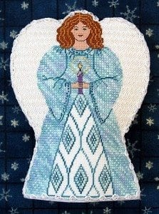 Glad Tidings Angel Needlepoint Chart