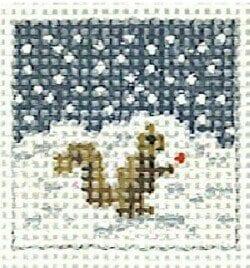 Miniature Squirrel in Snow