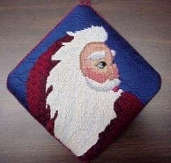 Burgundy Antique Santa Canvas and Stitch Guide