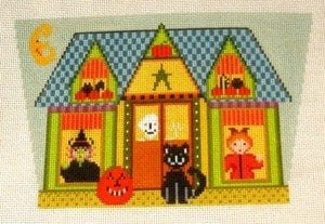 Halloween House Basket (front)