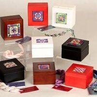 Miniature Box Red, White, Mahogany, Black