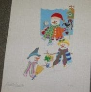 Snowman and Friends Stocking