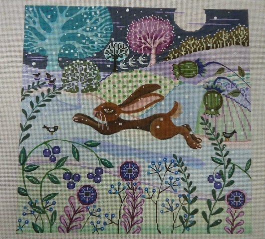 Rabbit on Purples
