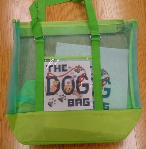 The Dog Bag Canvas with Mesh Tote