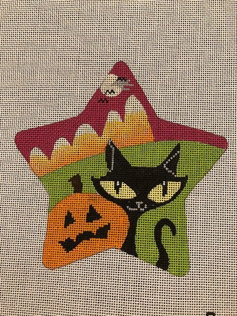 Spooky Star with Cat by Eye Candy Needleart